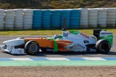 Fuerza la India F1, Adrian Sutil, 2011 de las personas Imágenes de archivo libres de regalías