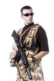 Fuerzas armadas de arma Imágenes de archivo libres de regalías