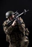 Fuerzas armadas de arma Foto de archivo libre de regalías