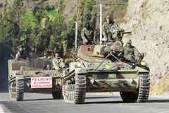 Fuerzas armadas de arma del Ecuadorian Imagenes de archivo