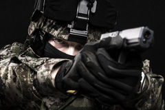 Fuerzas armadas de arma del ruso Fotos de archivo
