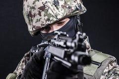 Fuerzas armadas de arma del ruso Fotos de archivo libres de regalías