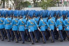 Fuerzas armadas de arma tailandesas reales Imágenes de archivo libres de regalías