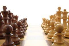 Fuerzas de oposición del ajedrez Foto de archivo