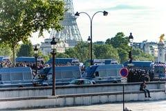 Fuerzas de policía en la plaza de la Concordia Fotografía de archivo