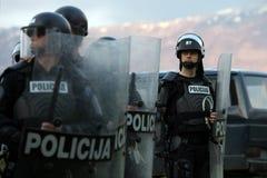 Fuerzas de policía especiales Imágenes de archivo libres de regalías