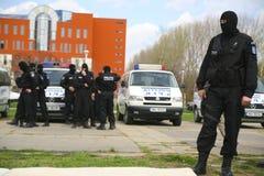 Fuerzas especiales de la policía rumana Foto de archivo libre de regalías