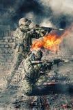 Fuerzas especiales en la acción fotografía de archivo