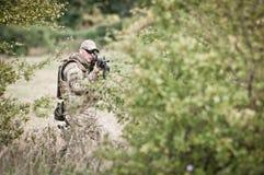 Fuerzas especiales en patrulla Fotos de archivo