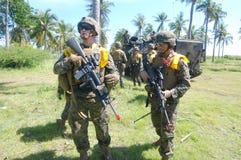 Fuerzas marinas de Estados Unidos en Indonesia Fotos de archivo