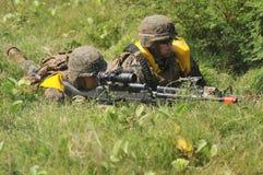 Fuerzas marinas de Estados Unidos en Indonesia Foto de archivo