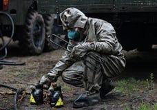 Fuerzas químicas en la acción Fotos de archivo libres de regalías