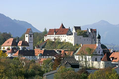 Fuessen in Allgaeu, Baviera Immagini Stock