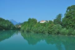 Fuessen, Lech River, Allgaeu, Baviera, Germania Immagini Stock Libere da Diritti