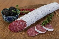 Fuet sausage Stock Photography