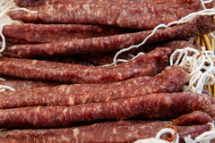Fuet sausages group Stock Photography