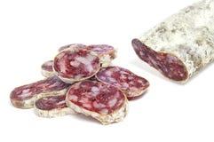 Fuet, spanish salami Stock Image