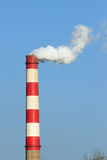 Fug-belching chimney. Fug-belching power factory chimneys Stock Image