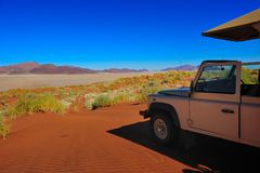 fuga 4x4 (deserto de Namib, Namíbia) Imagens de Stock Royalty Free