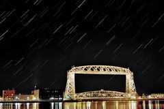 Fuga aérea da estrela da ponte de elevador Fotos de Stock