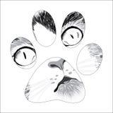 Fuga animal da silhueta ilustração do vetor