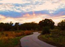 A fuga ao por do sol Fotos de Stock Royalty Free