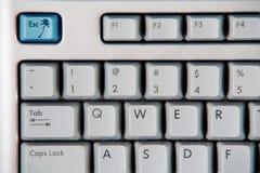 Fuga blu da lavoro Immagini Stock Libere da Diritti