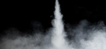 Fuga branca do fumo Fotos de Stock Royalty Free