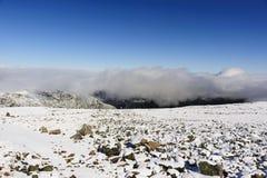 Fuga coberto de neve na montagem Washington Fotos de Stock Royalty Free