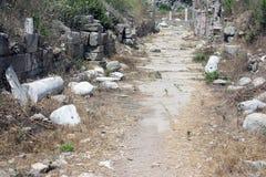 A fuga com as ruínas da cidade antiga do lado Fotografia de Stock