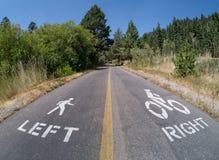 Fuga da bicicleta e da caminhada imagens de stock
