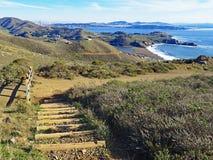 Fuga da Costa do Pacífico, Califórnia fotografia de stock