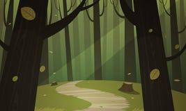 Fuga da floresta ilustração royalty free