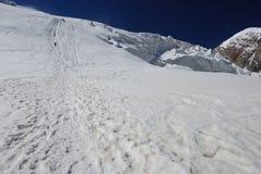 Fuga da geleira Imagem de Stock