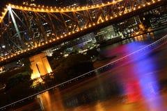 Fuga da ponte & da balsa da história de Brisbane Imagem de Stock Royalty Free