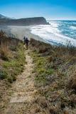 Fuga da praia do promontório de Mendocino imagem de stock royalty free