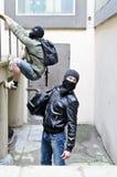 Fuga da un furto. Fotografia Stock
