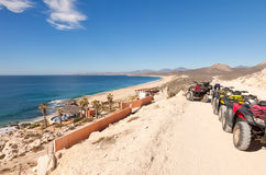 Fuga de ATV em Los Cabos, México fotos de stock royalty free