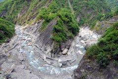 Fuga de Buluowan do â do desfiladeiro de Taroko Fotos de Stock
