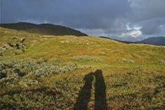 Fuga de caminhada de Kungsleden Fotografia de Stock