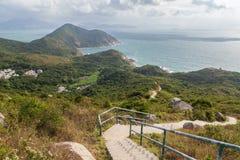 Fuga de caminhada e litoral na ilha de Lamma imagens de stock royalty free