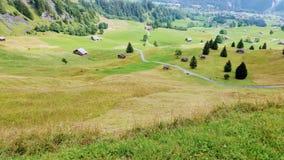 Fuga de caminhada em Suíça foto de stock royalty free