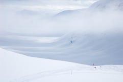 Fuga de caminhada Kungsleden do esqui do país transversal Imagens de Stock Royalty Free
