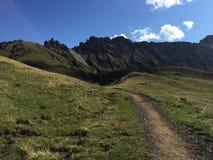 Fuga de caminhada maravilhosa em cume de siusi em Val Gardena/para o sul em Tirol/Italia Imagens de Stock