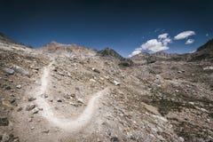 Fuga de caminhada na serra Nevada Mountains Imagens de Stock