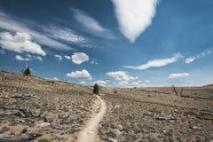Fuga de caminhada na serra Nevada Mountains Fotos de Stock