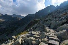 Fuga de caminhada no Tatra alto Fotos de Stock Royalty Free
