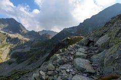 Fuga de caminhada no Tatra alto Fotografia de Stock