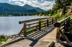 Fuga de Colorado do parque de Lily Lake Rocky Mountain National Fotos de Stock Royalty Free
