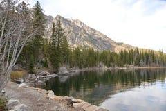 A fuga de Jenny Lake no parque nacional grande de Teton pode ser caminhada pelo intermediário ao trailbuster do principiante, con Foto de Stock Royalty Free